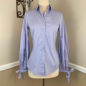 Banana Republic Riley Pleated Bell Sleeve Shirt